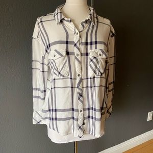 Rails x Free People Plaid Button Front Shirt M